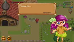 Screenshot of Wibbu English showing A1 language